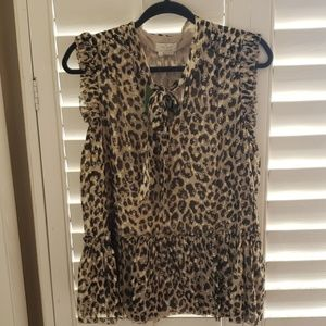 New with tags Kate Spade leopard top